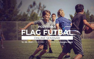 Webinár FLAG FUTBAL – sport for everybody je tu. Tentokrát pod patronátom Zvolen Patriots.